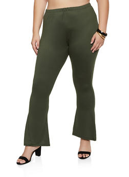 Plus Size Soft Knit Flared Pants | 3961074010526 - 3961074010526
