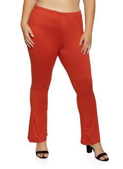 Plus Size Soft Knit Flared Pants | 3961074010526 - 3961074010526