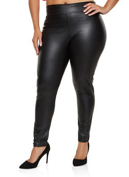 Plus Size Faux Leather Leggings | 3961074015995 - 3961074015995