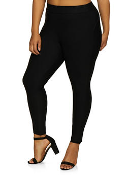 Plus Size Pull On Ponte Push Up Pants - 3961074642000