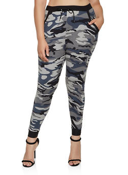 Plus Size Soft Knit Camo Joggers | 3961074646917 - 3961074646917