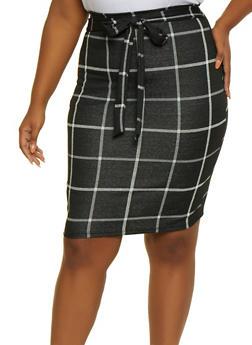 Plus Size Plaid Skirt - 3962020629073