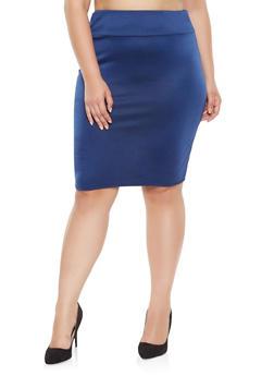 Plus Size Pencil Skirt - 3962074288500