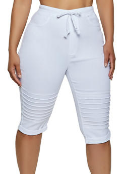 Plus Size Moto Capri Jeggings - 3965063401946