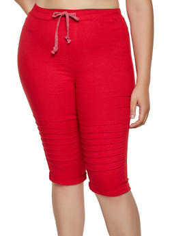 Plus Size Moto Capri Jeggings - 3965063401946