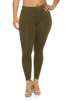 Plus Size Soft Knit Leggings - 3969001441040
