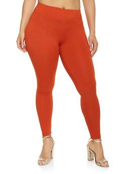 Plus Size Soft Knit Leggings - 3969001441040