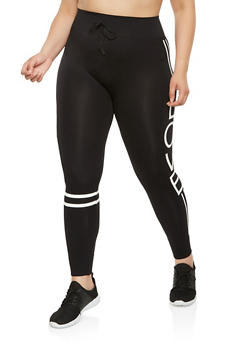 Plus Size Love Graphic Leggings - 3969001441112