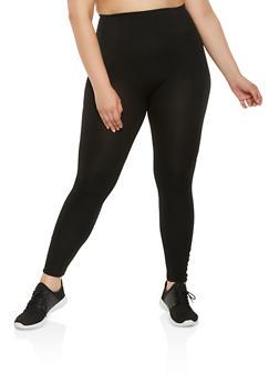 Plus Size Caged Detail Leggings - 3969001441135