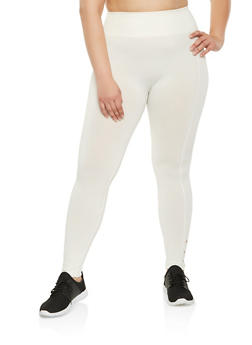 Plus Size Caged Detail Leggings - 3969001441135