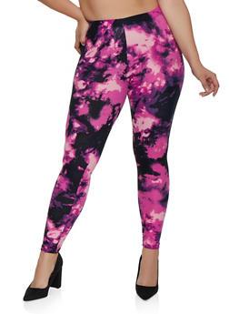 Plus Size Tie Dye Leggings | 3969001441351 - 3969001441351