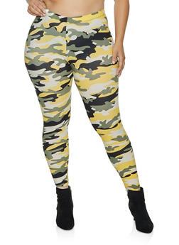 Plus Size Camo Soft Knit Leggings | 3969001444947 - 3969001444947