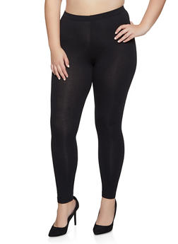 Plus Size Solid Leggings | 3969042015477 - 3969042015477