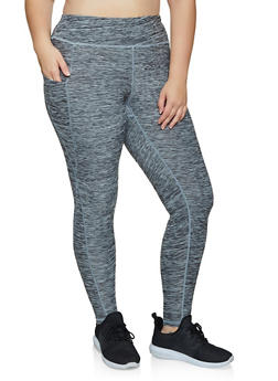 Plus Size One Pocket Active Leggings - 3969051060827