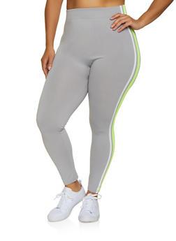 Plus Size Varsity Stripe Leggings | 3969051064393 - 3969051064393