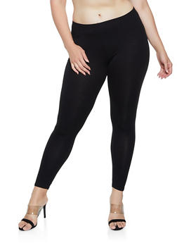 Plus Size Solid Leggings | 3969054261161 - 3969054261161