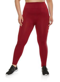 Plus Size Nope Graphic Athletic Leggings - 3969061630028