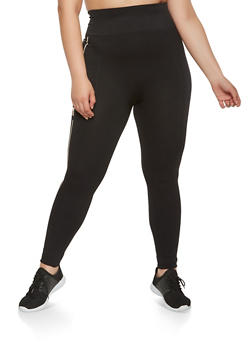Plus Size Love Graphic Pintuck Leggings - 3969061630061
