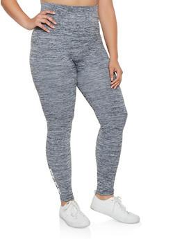 Plus Size Flex Graphic Leggings - 3969061630182