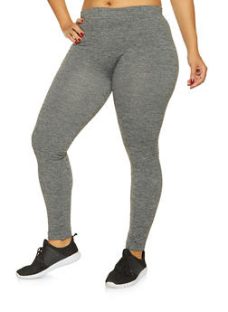 Plus Size Marled Leggings - 3969061630183