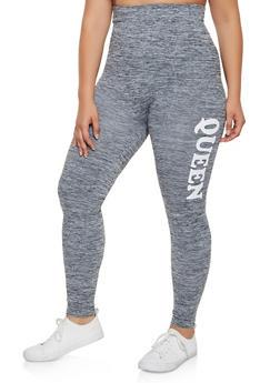 Plus Size Queen Active Leggings - 3969061630185