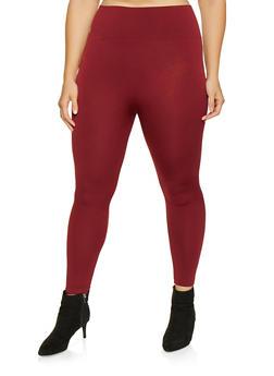 Plus Size Fleece Lined Leggings - 3969061630279