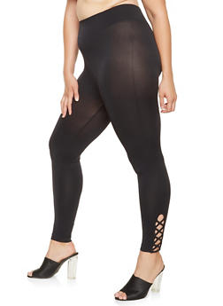 Plus Size Caged Side Leggings - 3969061632629