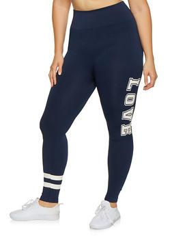Plus Size Love Graphic Leggings - 3969061633129