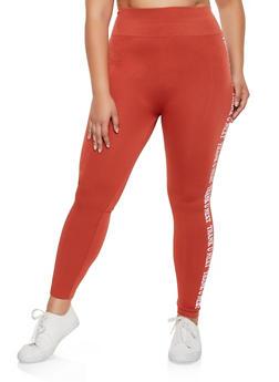 Plus Size Thank U Next Graphic Leggings - 3969061636126