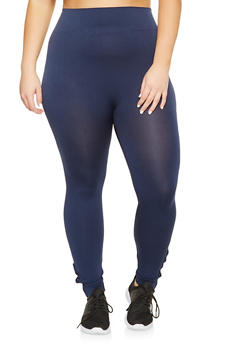 Plus Size Caged Leggings - 3969061636669