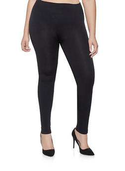 Plus Size Fleece Lined Leggings - 3969061637079