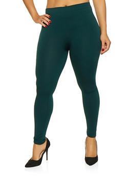 Plus Size Fleece Lined Leggings - 3969061637079