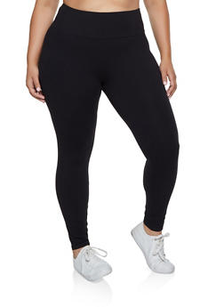 Plus Size Wide Waist Leggings - 3969061639182