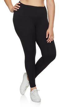 Plus Size Soft Knit Solid Leggings | 3969061639185 - 3969061639185