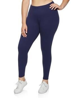 Plus Size Soft Knit Solid Leggings | 3969061639185 - 3969061639185