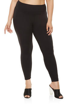 Plus Size Soft Knit Leggings - 3969061639918