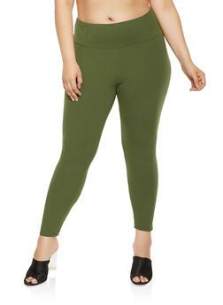 Plus Size Soft Knit Leggings - 3969061639918