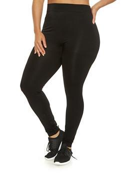 Plus Size Solid Push Up Leggings - 3969062900225