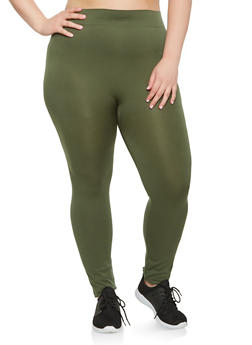 Plus Size Solid Push Up Leggings - 3969062900225