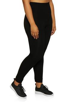 Plus Size Solid Leggings - 3969062900629