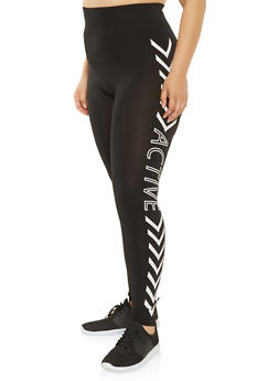 Plus Size Active Graphic Leggings - 3969062900821