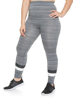 Plus Size Marled Leggings - 3969062901356