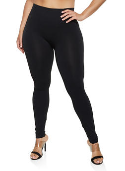 Plus Size Solid Leggings | 3969062905155 - 3969062905155