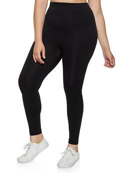 Plus Size Solid Leggings | 3969062905300 - 3969062905300