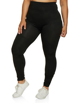 Plus Size Ruched Leggings - 3969062906001