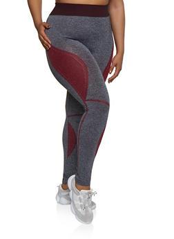 Plus Size Color Block Leggings | 3969062908025 - 3969062908025