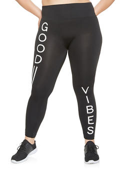 Plus Size Graphic Activewear Leggings - 3969062908069