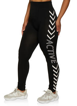 Plus Size Active Graphic Leggings | 3969062908082 - 3969062908082