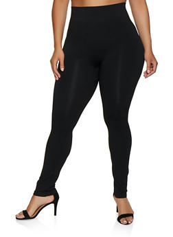 Plus Size Ruched Back Leggings - 3969062908562