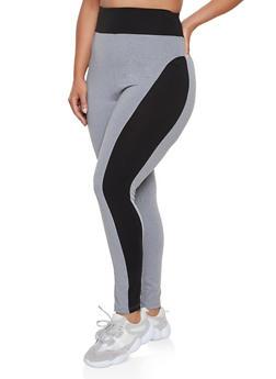 Plus Size Color Block Leggings | 3969062909050 - 3969062909050
